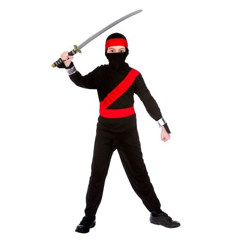 Boys Cartoon Ninja Costume for Oriental Fancy Dress Childrens Kids Childs